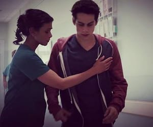 human, mother and son, and stiles stilinski image