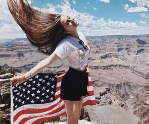 american, grand canyon, and american flag image