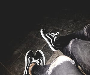 black, deep, and vans off the wall image