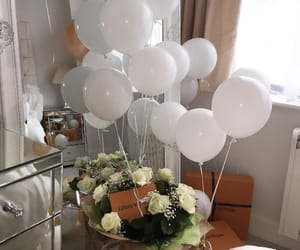 balloons, flowers, and luxury image