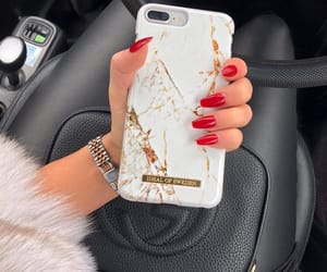 nails, red, and iphone image