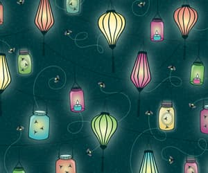 candle, fireflies, and firefly image