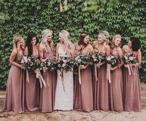 bride, bridesmaid, and wedding image