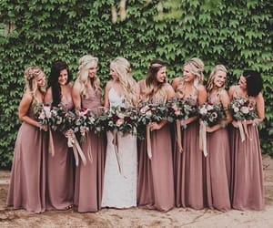 bridesmaid, wedding, and bride image