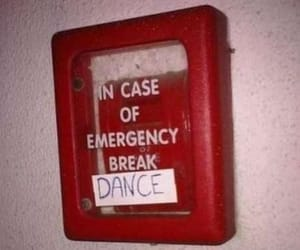 dance, funny, and emergency image