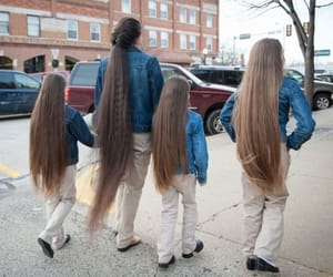 family, long, and hairl image