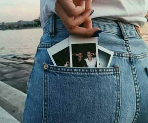 jeans, photo, and polaroid image