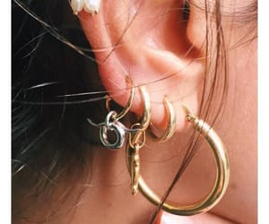 earrings, accessories, and gold image