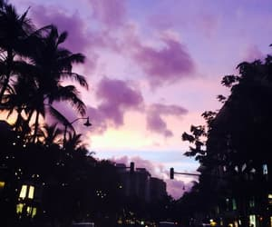 sky, purple, and sunset image
