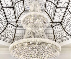 chandelier, crystals, and goals image