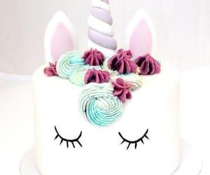food, cake, and unicorn image