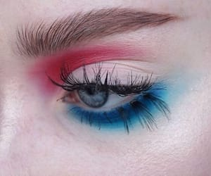 blue, eyeshadow, and red image