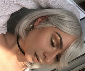 blonde, gold, and hair image