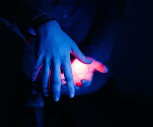 fantasy, hands, and light image