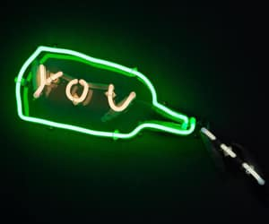 green, neon, and words image