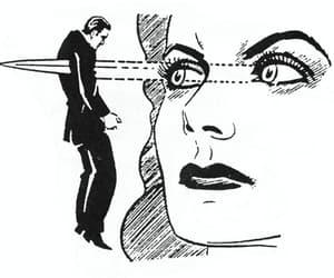 woman, eyes, and kill image