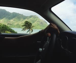 car, green, and travel image