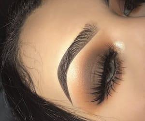 makeup, eyeshadow, and brown image