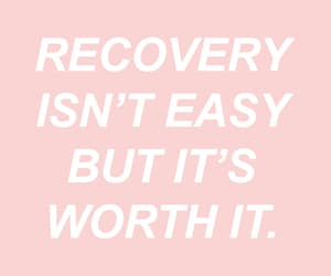 quotes, recovery, and pink image