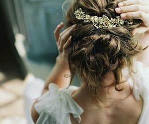 hair, princess, and wedding image