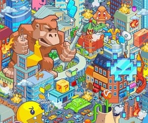game, mario, and pacman image