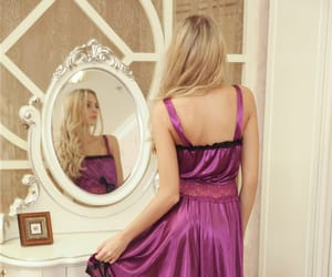 blonde, nightdress, and nightgown image