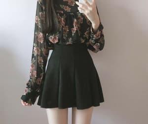 black, fashion, and flower image