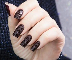 art, nails, and oncinha image