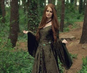 medieval, dress, and green image