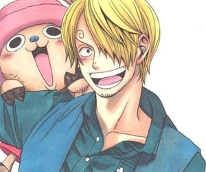one piece, chopper, and sanji image