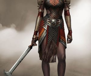 africa, art, and black panther image