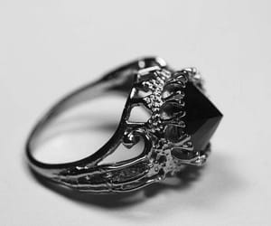 ring, gold, and black image
