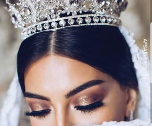crown, beauty, and bride image