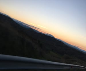 road, traveling, and sunrise image