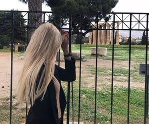acropolis, Athens, and black image