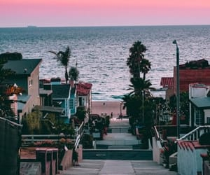 beach, city, and los angeles image