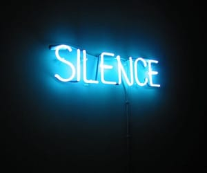 neon, sculpture, and silence image