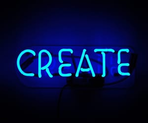 create and neon image