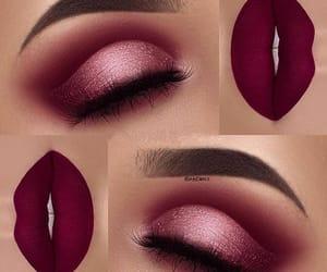 burgundy, eyebrow, and eyes image