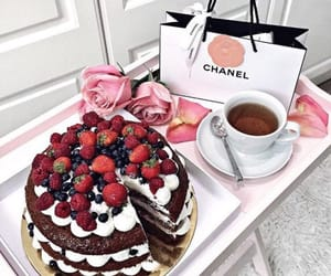 cake, chanel, and food image