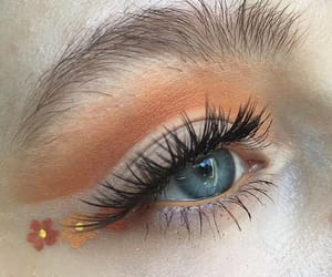 makeup, flowers, and orange image