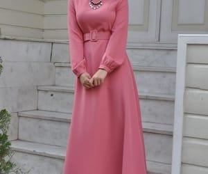 fashion, hijab, and long dress image