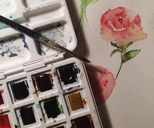 art, flower, and painting image