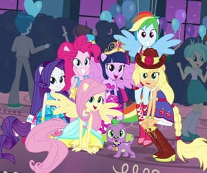 my little pony, spike, and twilight sparkle image