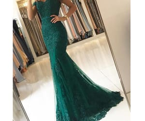fashion, formal wear, and green prom dress image