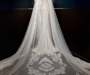 clothes, haute couture, and wedding gown image