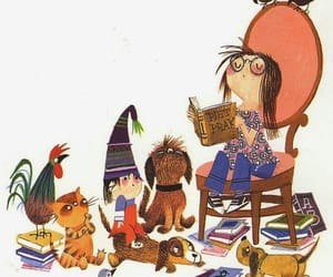 animals, books, and read image
