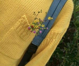 yellow, flowers, and grunge image