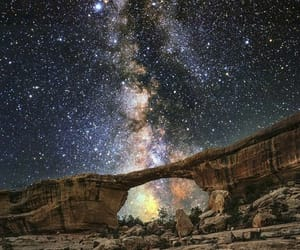 arch, night, and stars image