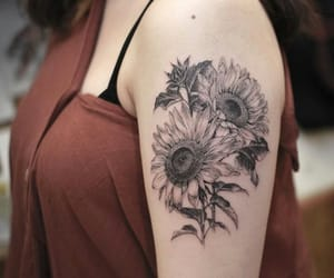flower, ink, and sketch image
